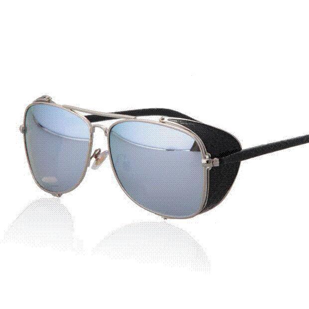 63be32319 New 2016 Vintage Steampunk Sunglasses Fashion Men Brand Designer ...
