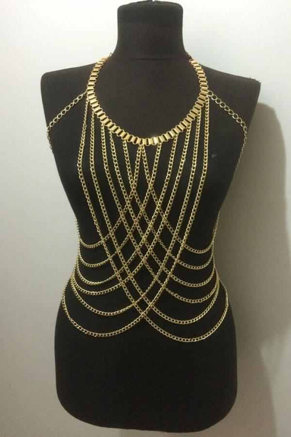 detail body jewelry sale harness heavy product necklace bra chain hot