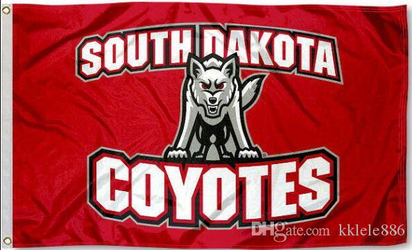 promo code 831cf d5482 South Dakota Coyotes Flag 90 x 150 cm Polyester USD NCAA Stars And Stripes  Banner
