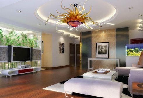 Murano çiçek tasarım lambaları avizeler oturma odası ışıkları modern el üfleme cam sanat avize ışık