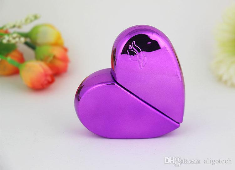 / Çok Renkli Küçük 25ml Aşk Şekli Taşınabilir Parfüm Sprey Pompa Şişeleri Yüksek Kalite Kozmetik Numune Püskürtme Şişeler DHL Gemi