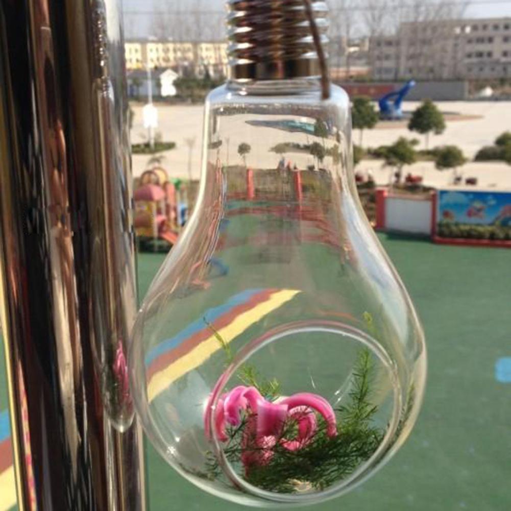새로운 유리 벌브 램프 모양 꽃 물 식물 교수형 꽃병 컨테이너 냄비 가정 실내 오피스 웨딩 장식