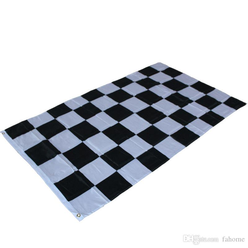3*5ft Racing Checkered Flag - Black and White Plaid Banner 90*150cm Car Racing Flag Motorsport Racing Banner Home Decor Party Supplies
