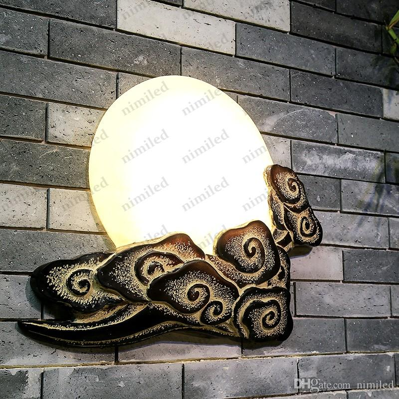 nimi806 고전적인 구름 문 중국 벽 램프 거실 식당 침실 복도 계단 크리 에이 티브 베드 사이드 조명 발코니 조명
