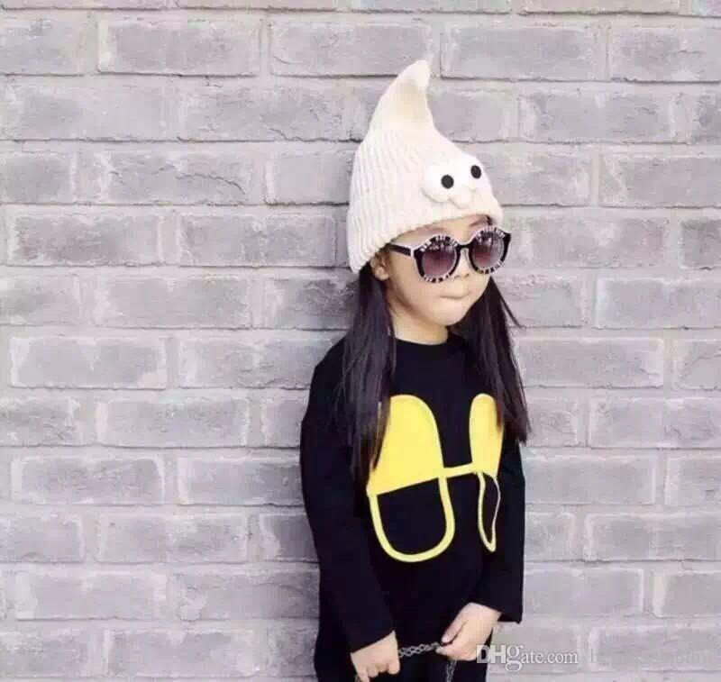 Korean Version Children Hat New Style Fall Winter Cap Pointy Wizard Knitte Hat Christmas Cap Moe Baby Essential Cartoon Wool Cap