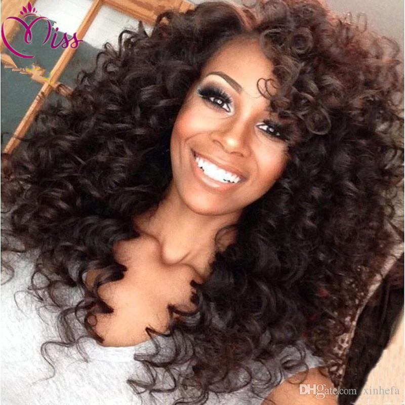 7A Glueless Full Lace Wigs Brazilian Deep Curly Hair Wig Bleached Knots Full Lace Front Human Hair Wigs For Black Women