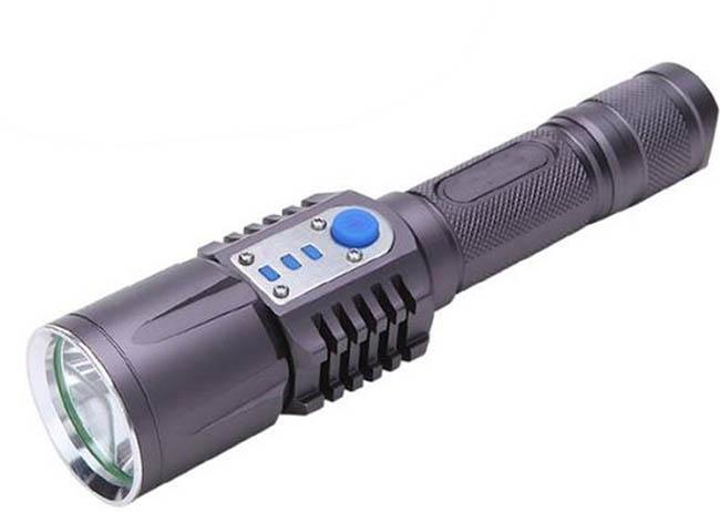 CREE XM-L2 LED Flashlight 2000 Lumen USB Charging Output Port Torch light 18650 Battery Lamp For Camping Working charge your USB device