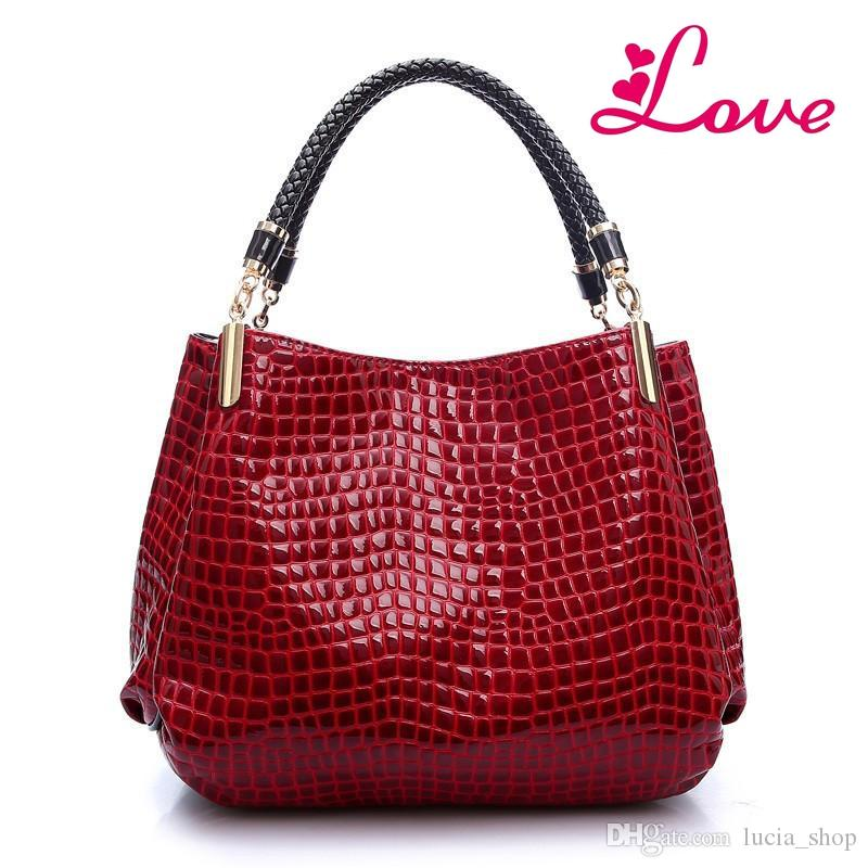 d122e98b0410 LOVE Alligator Leather Women Handbag Bolsas De Couro Fashion Famous ...
