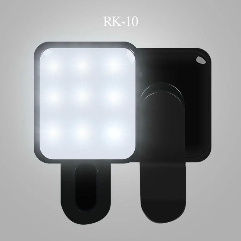 Portable LED Selfie Spotlight lamp RK10 Night light,Mini Photography Flash LED bulbs with Clip For Camera IOS/Android Smartphone