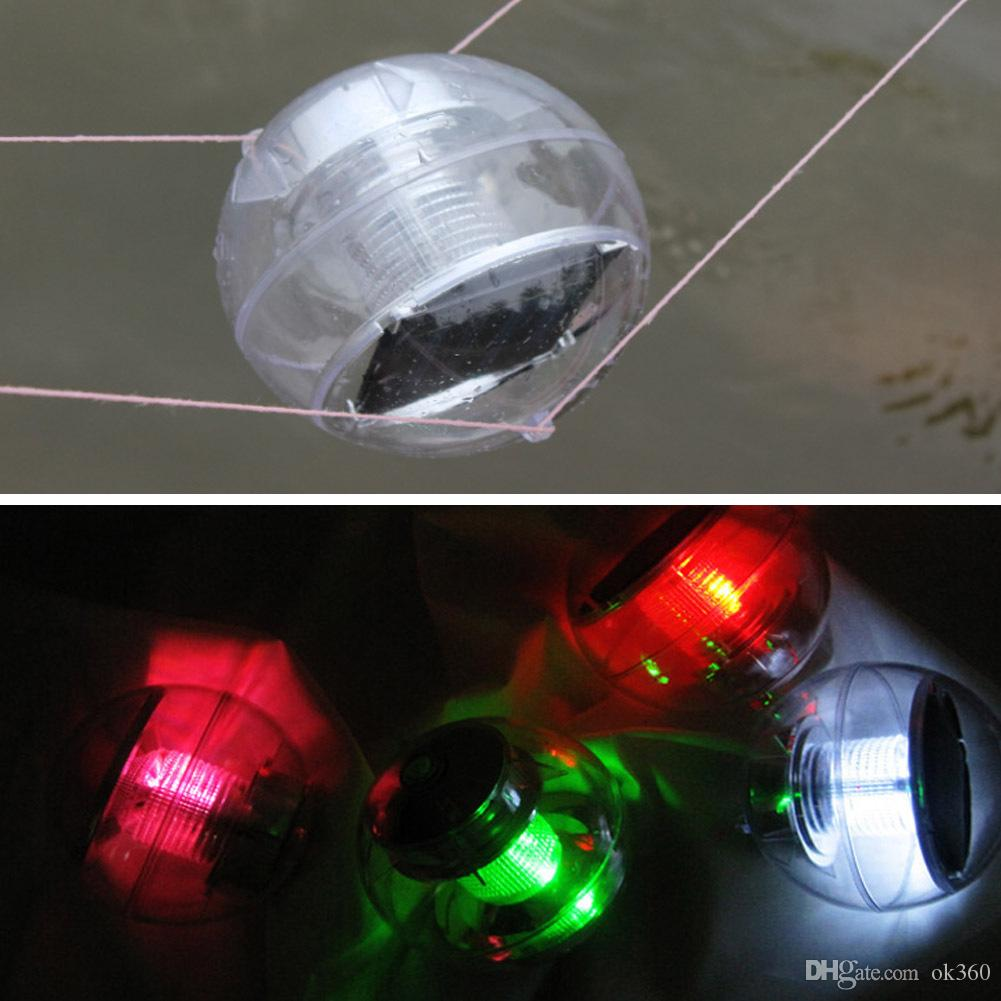 Nueva Energía Solar Impermeable IP65 Estanque Flotante Rotat 7 Lámpara que Cambia de Color Estanque de Bola Solar flotante es Lámpara de Luz LED Para días de Festival