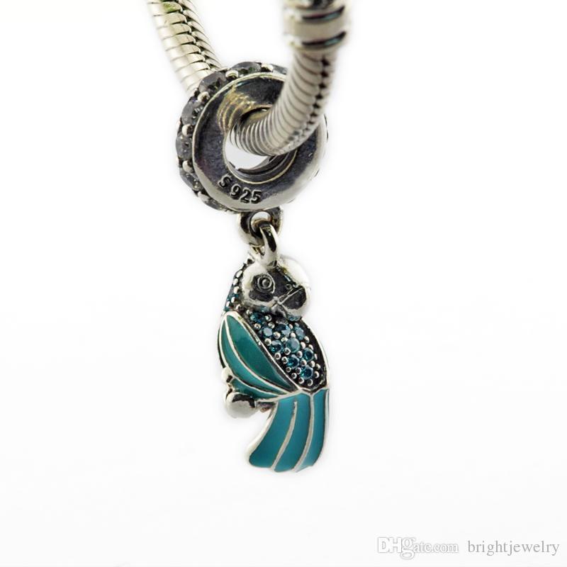 Serve para pulseiras pandora 2016 jóias de verão papagaio tropical autêntica 925 encantos pingente de prata esterlina diy