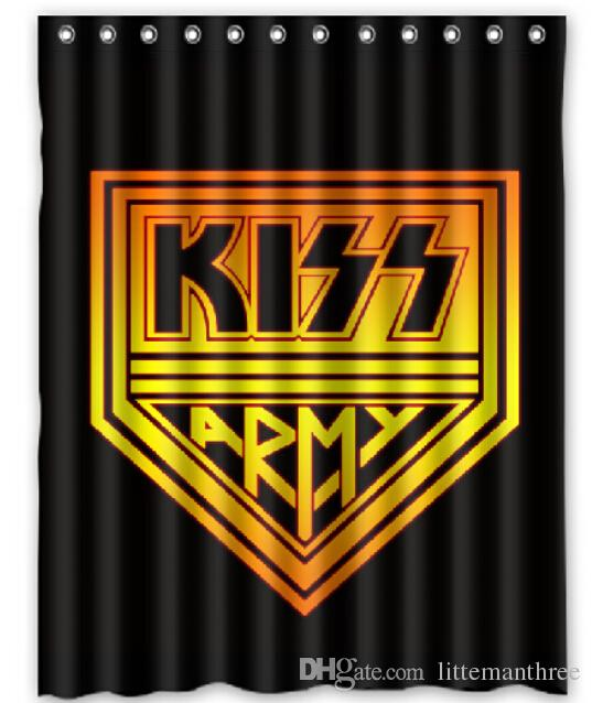 2019 Logo Kiss Army Design Shower Curtain Size 140 X 180 Cm Custom Waterproof Polyester Fabric Bath Curtains From Littemanthree 2513