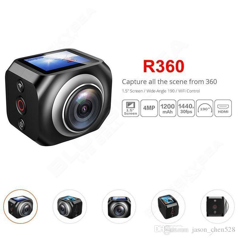 HOT Original VR 360 Action Camera VR360 Sports camera 1920 /30fps 1.5 Inch Screen with Remote Control