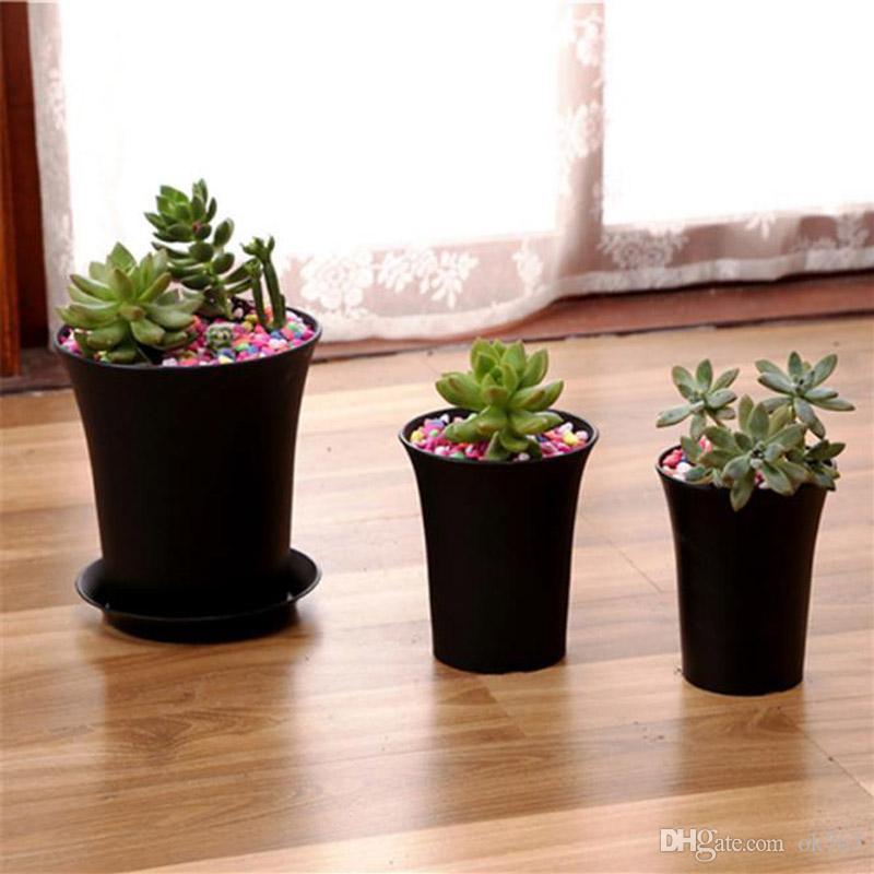 Garten Pflanzer Topf mit 6 Größe Option Kindergarten Kunststoff Blumentopf für Garten Rasen Garten Indoor Home Desk oder Bedside Pflanzen