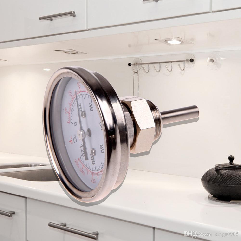 Calibro del termometro analogico dell'acciaio inossidabile la griglia del barbecue Bilancia a doppia scala Sonda di lettura istantanea Cibo che cucina nuovo calibro di carne