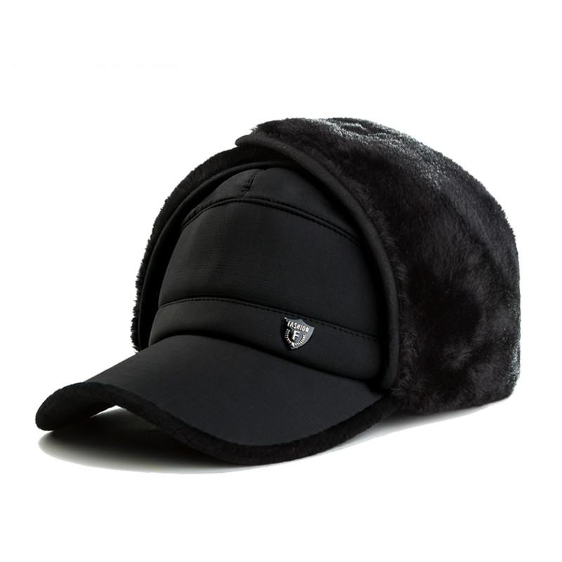 fb7547e6de876 Super Warm Winter Baseball Cap For Men Faux Fur Snapback With Ear Flaps  Cotton Men Dad Hat Earflaps Snowing Caps Bones MX17246 Mens Caps La Cap  From ...