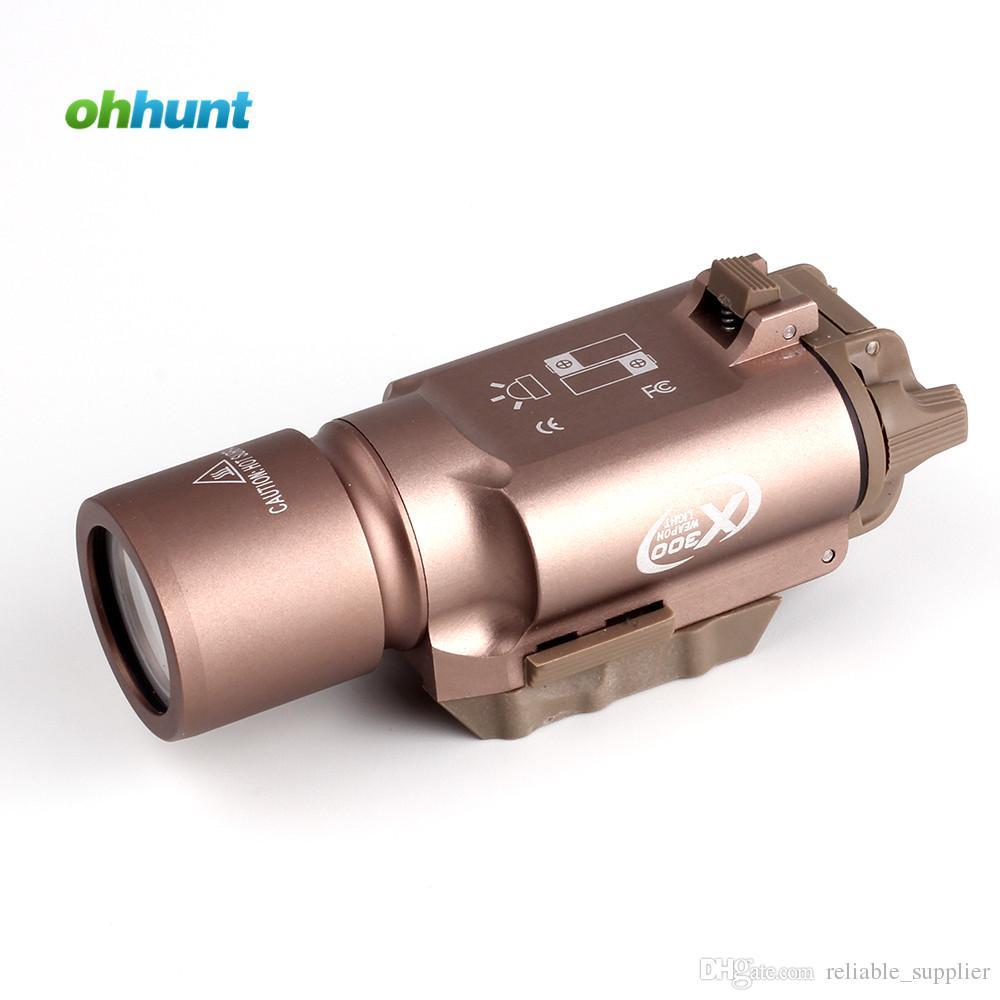 Tactique LED Pistolet M4 Lampe De Poche Fusil X300 Lanterna Ultra Lumières pour Chasse Tir Tireur Picatinny Mount Livraison Gratuite