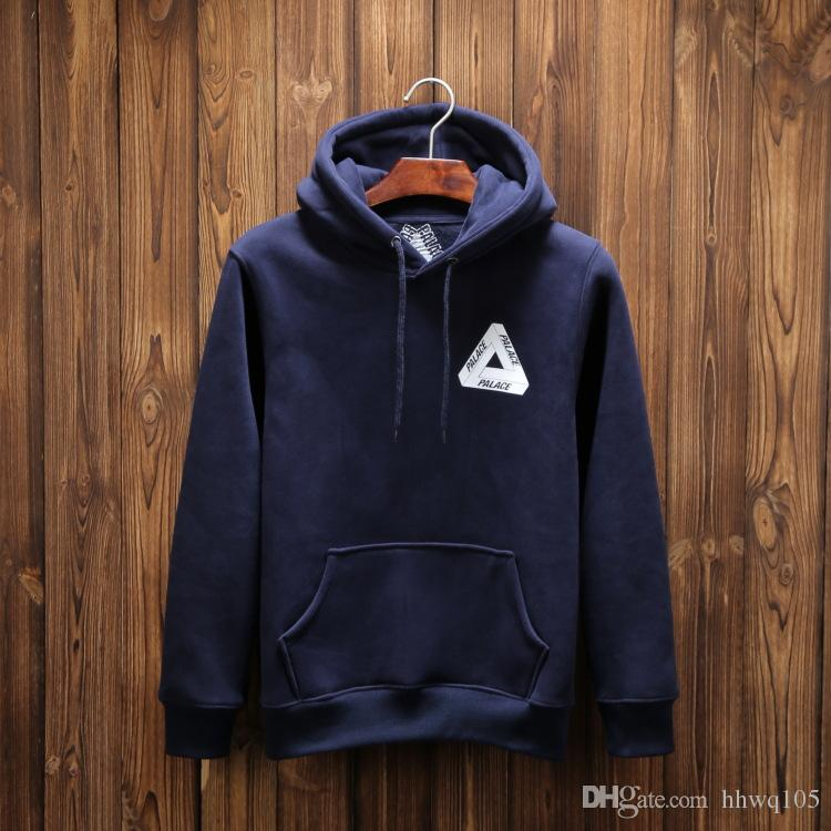 New PALACE Hoodie Men's Black Navy Hooded Sweatshirt Palace ...