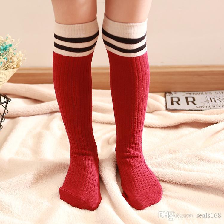 24 Design Baby Girls Knee Mid High Socks Striped Dot Cat Cotton Long Socks Spring Autumn Children Kids Dress Socks Hosiery HH7-43