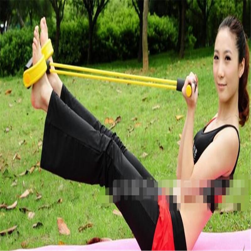 GYM Fitness Yoga Ayak Pedalı Çekme Halatı Tüp Ekipmanları Aracı Spor Direnç Bantları Spor Egzersiz Çekin Halat