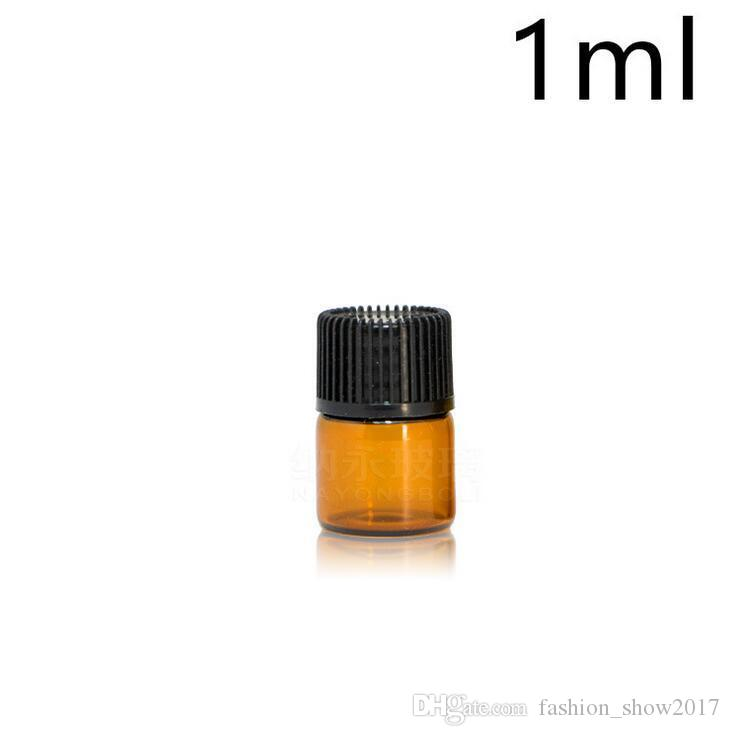 1 ml 2 ml 3 ml 5 ml Ambra contagocce Mini bottiglia di vetro Olio essenziale Espositore Fiala Profumo di siero piccolo Contenitore campioni marrone