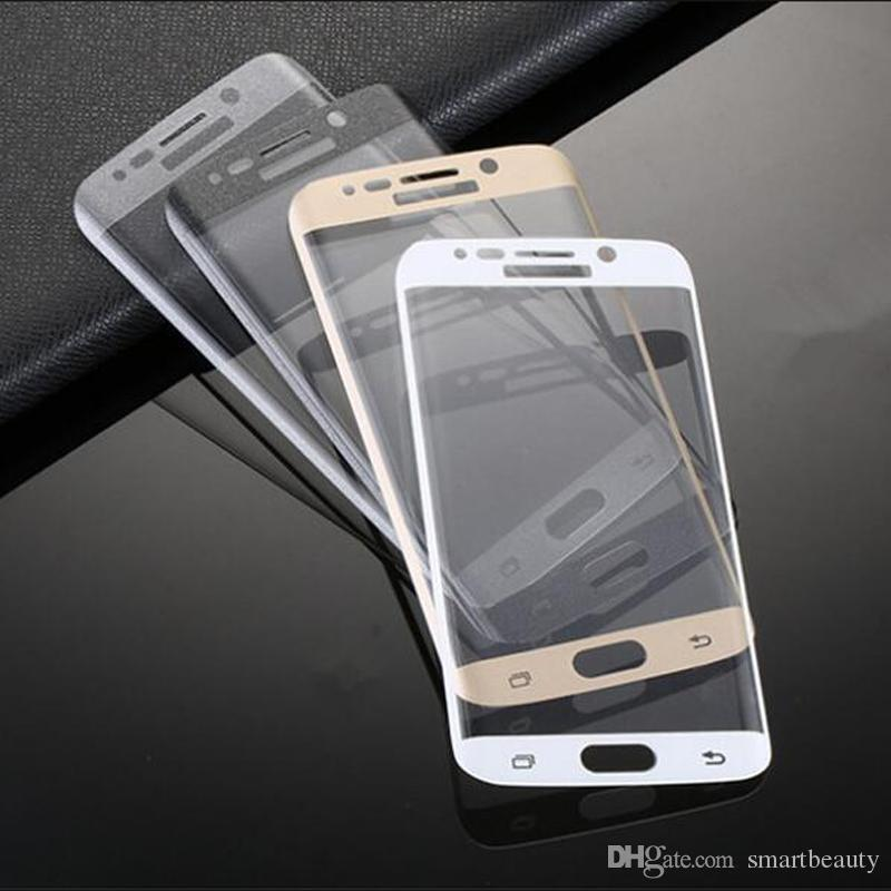 Explosion-proof Curved LCD Clear Tempered Glass Transparent Screen Protector Film Ultra thin For Samsung Galaxy S6 Edge