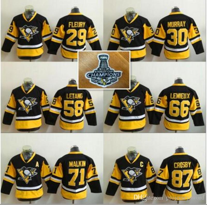 010775af9 5 Youth Pittsburgh Penguins 87 Sidney Crosby White 2016 Stanley Cup  Champions Stitched ...