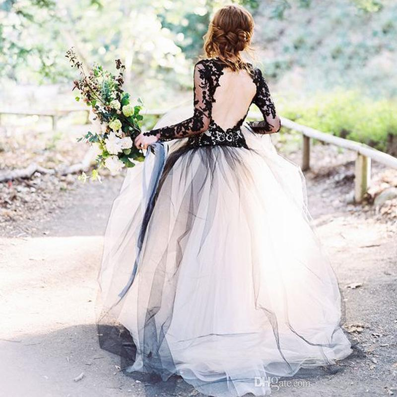 Discount 2017 Stunning Black Champagne Black And White Wedding