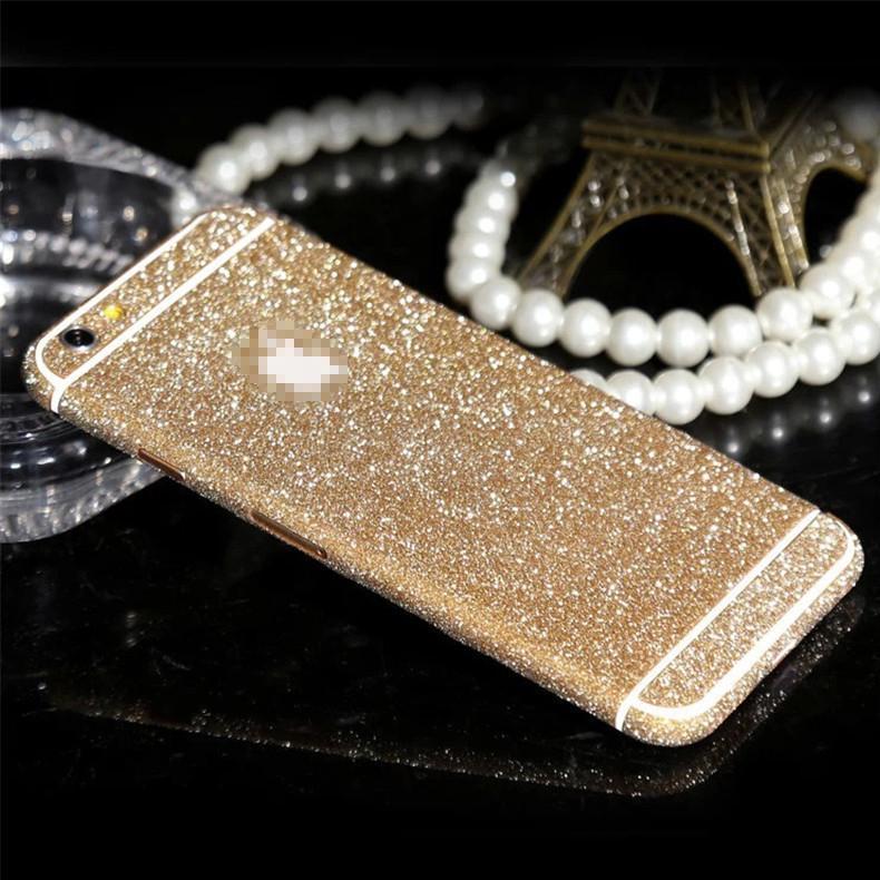 Glitter Sticker For Smart Phone Cell Phone Luxury Bling Full Body Decal Glitter Film Sticker Case Cover
