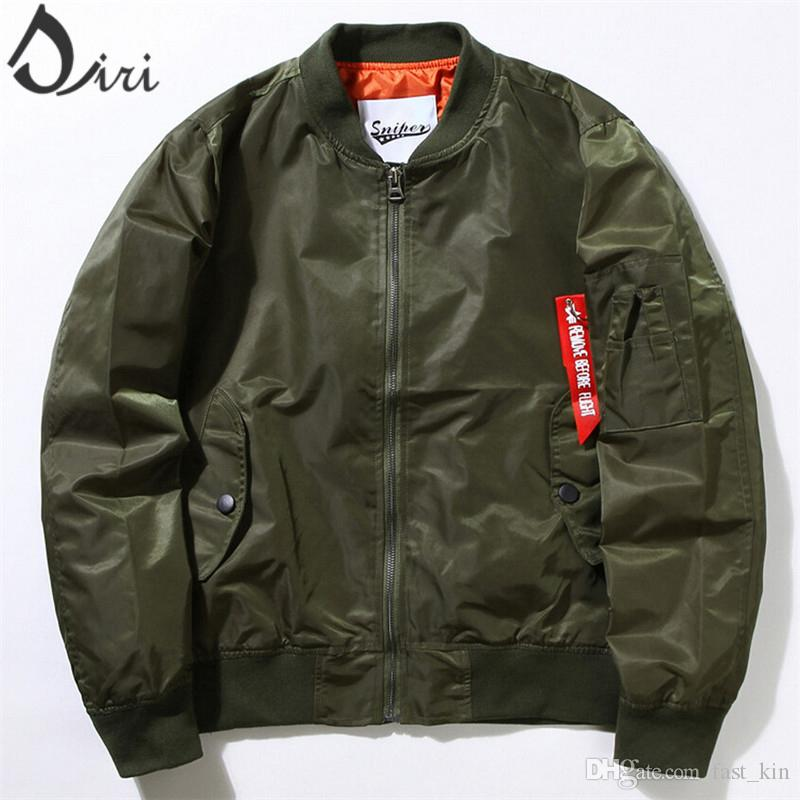 2016 Brand Clohting Mens Flight Jacket Kanye West Ma1 Flight ...