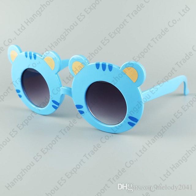 Zoo Animal Shape Lunettes de soleil Tiger Kids Lunettes de soleil mignon et beau bébé UV400 6 couleurs