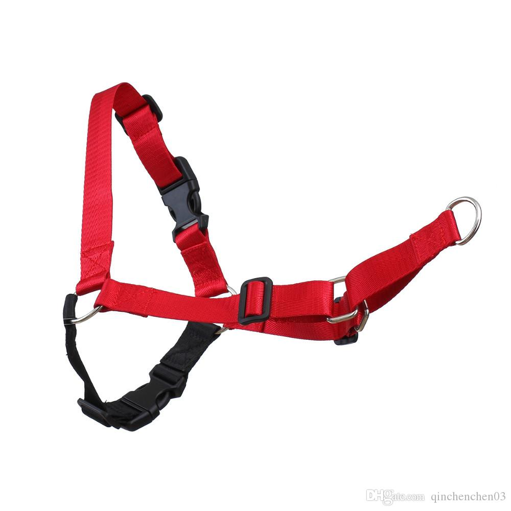 New develop walk easy dog harness front lead dog leash harness pull harness attaching strong leash S M L for different breed Random Color