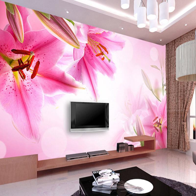 Custom Photo Wallpaper Lily 3D HD Wallpapers Bedroom Living Room ...