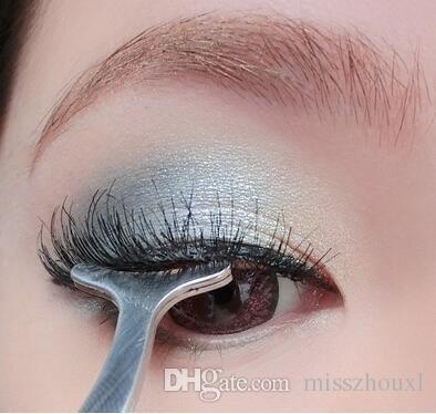 Multifunktions-Edelstahl-falsche Wimper-Lockenwickler-Augenbrauen-Pinzette-Gesundheits-Schönheits-Make-upschönheits-Werkzeug-Pinzette Multicolor