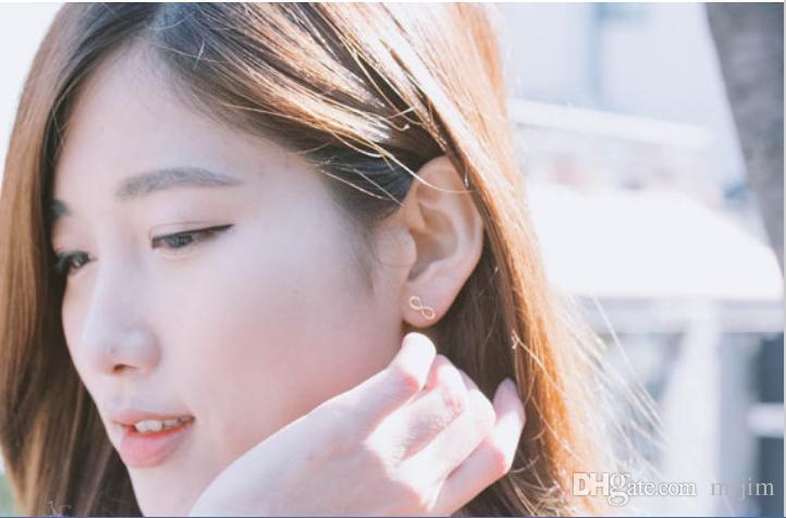 Im Jahr 2016 reizende Ohrringe der Unendlichkeitsverbindung neue Art und Weisefrauen reizende Ohrringe des freien Verschiffens bestes Geschenk
