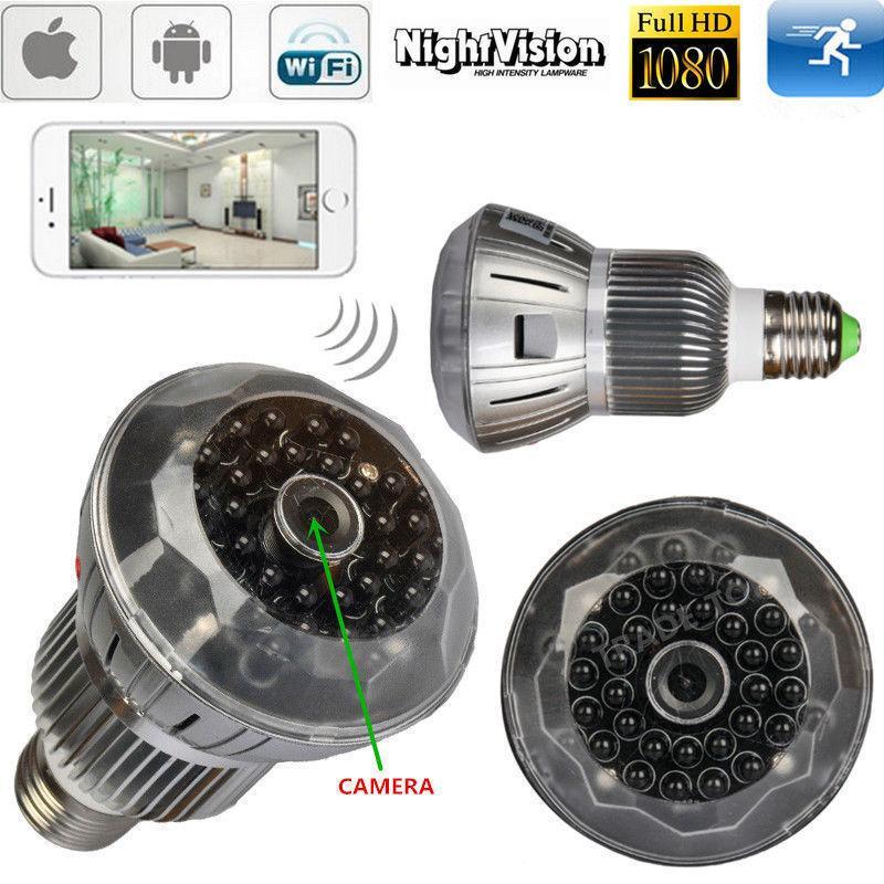 2019 1080p Night Vision Spy Cameras Bulb Style Mini Ip