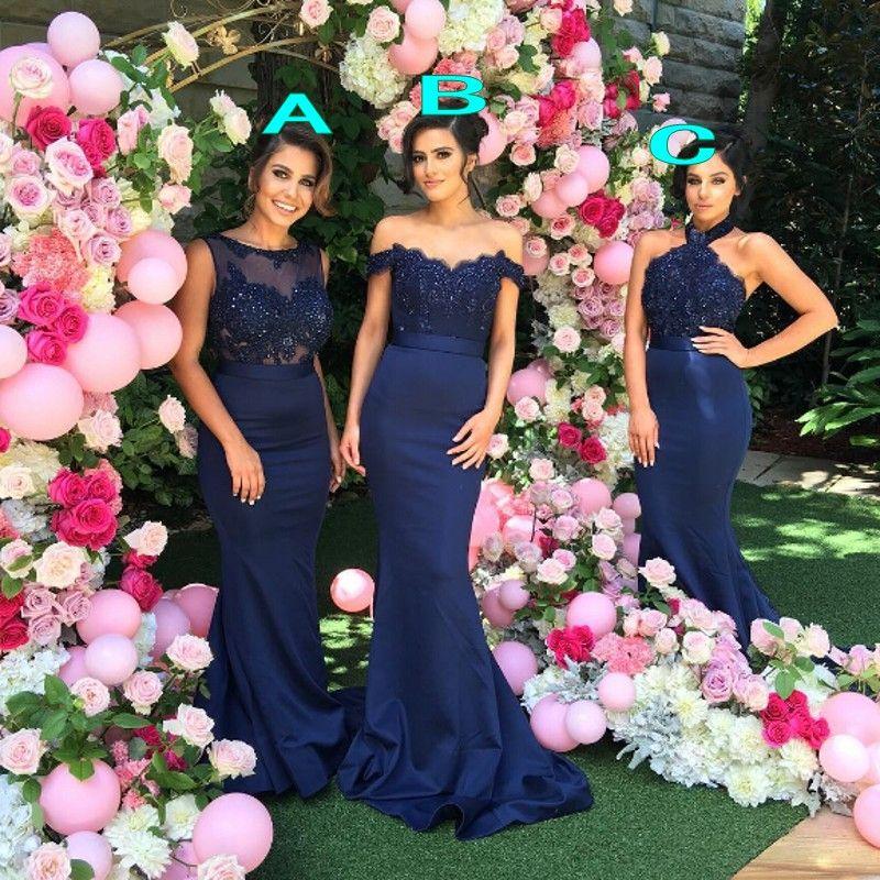플러스 크기 저렴한 주니어 신부 들러리 드레스 2021 섹시한 인어 긴 파티 댄스 파티 댄스 파티 드레스 레이스 아플리케