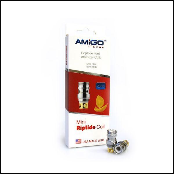 100% genuino Itsuwa Amigo Mini Riptide Coil 0.3ohm 0.5ohm Soporte 15-50W Fit Vogue 50W Polestar Top Rilling Riptide Envío Gratis