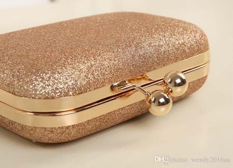 1 stück kleine designer handtaschen 2017 gold silber pu abendkupplung Bankett Tasche Handtasche Braut