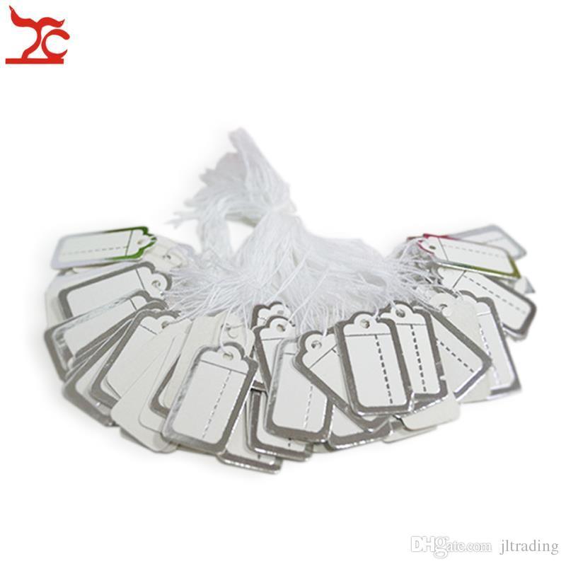 Schmuck-Display 500 Stück Krawatte PREIS-TAG silbernes goldenes Etikettenpapier Preisetikett mit kostenloser Versand