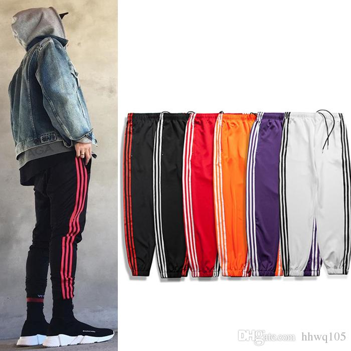 59ccf7a935c64 2019 Fashion Striped Jogger Pants Men Women Sport Track Sweatpants Justin  Bieber Hip Hop Street Wear Skateboard Pant Trousers BFSH1101 From Hhwq105,  ...