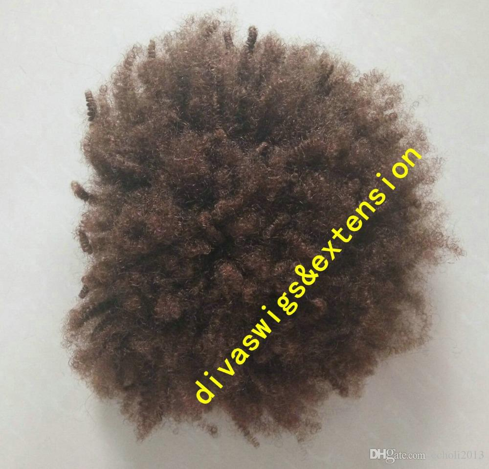 African short high human ponytail extension Clip in natural afro puff kinky curly drawstring pony tails hair extension 120g