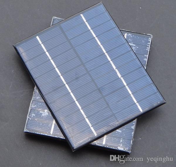 도매 고품질의 2W 12V 태양 전지 다결정 솔라 패널 모듈 DIY 솔라 충전기 136 * 110 * 3MM / 무료 배송