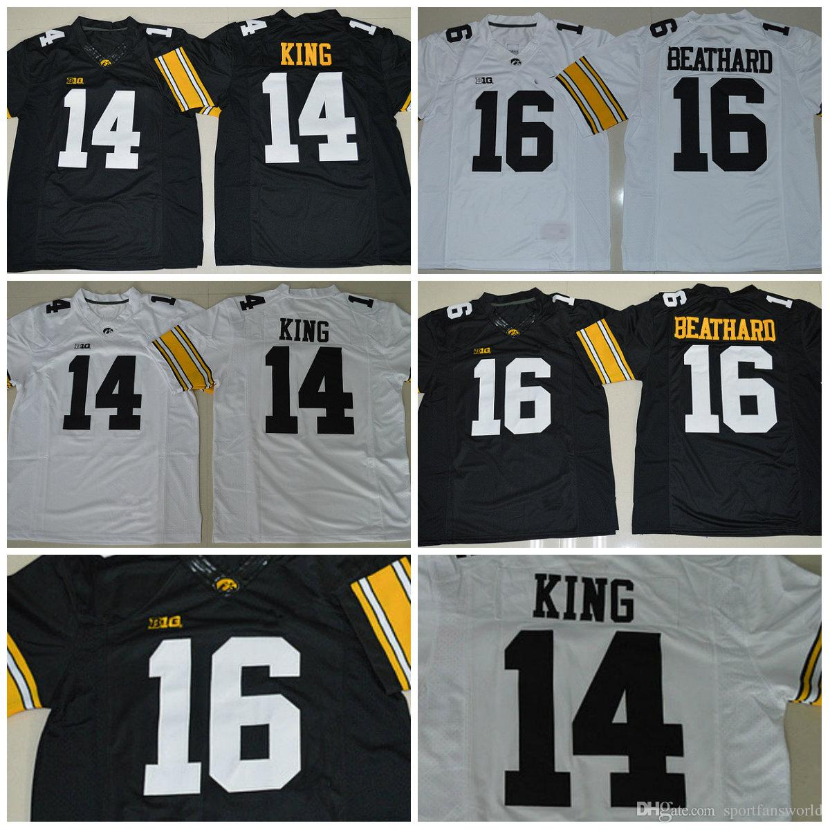... college football jerseys white  best quality 2018 new coming iowa  hawkeyes ncaa jersey 16 c.j beathard 14 desmond king gift 6c3ee60fe