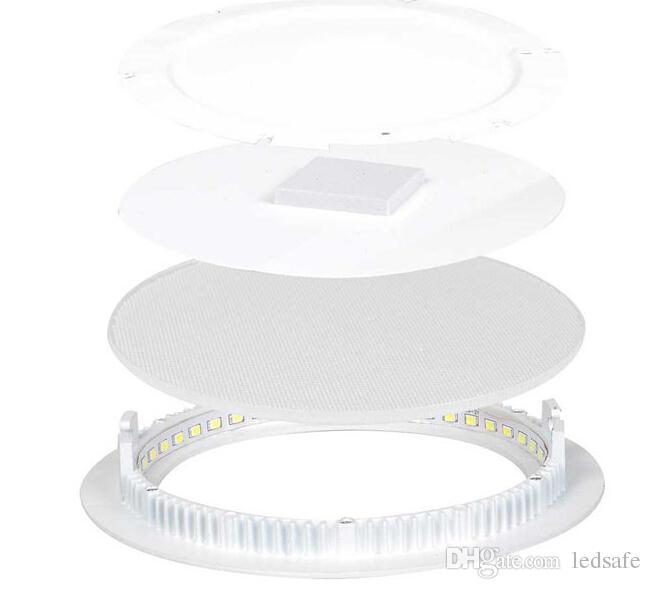 LED Gömme Tavan Paneli Işık 3 W 4 W 6 W 9 W 12 W 15 W 18 W 24 W Mutfak Modern Ev İç için Aşağı Aydınlatma Dekorasyon AC 85-265 V CE ROSH