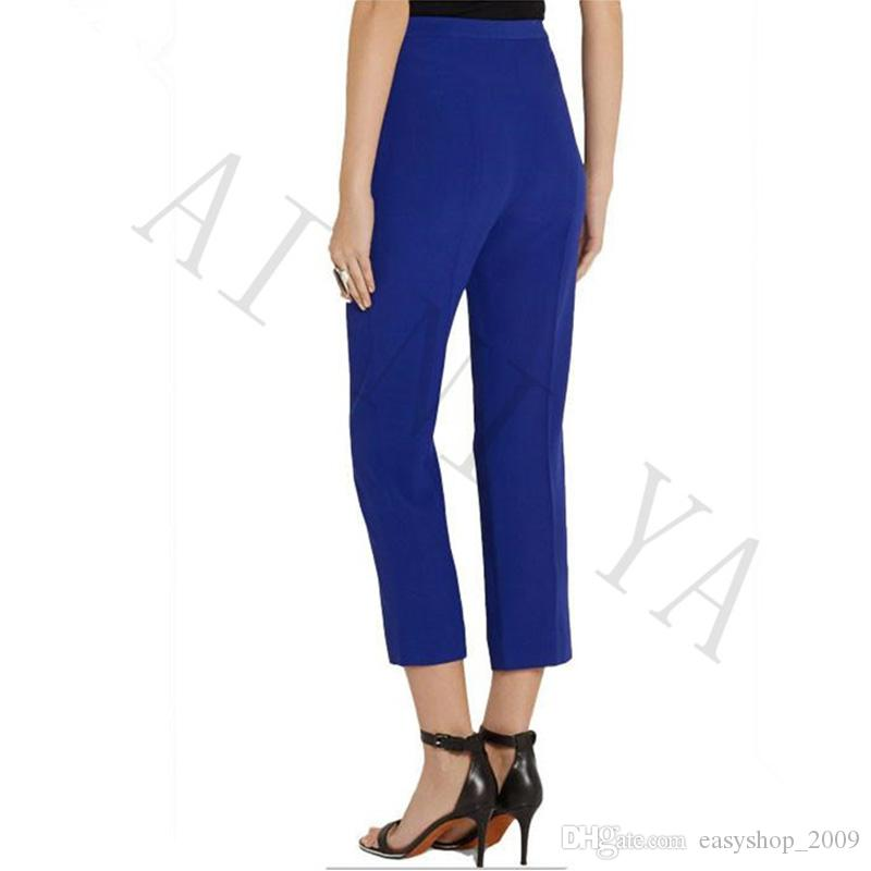 Summer Royal Blue Ladies Pant Suits Brazers Formal Elegant Women's Business Suits Female Trouser Suits Custom Made