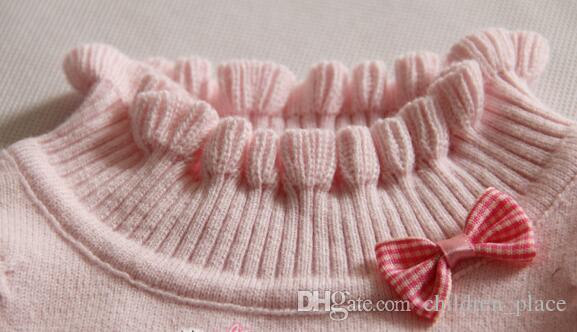 Jumper Triko Yap örme 2020 Çocuk Giyim İlkbahar Sonbahar Kız bebekler Kazak Süveter çocuklar% 100 pamuk