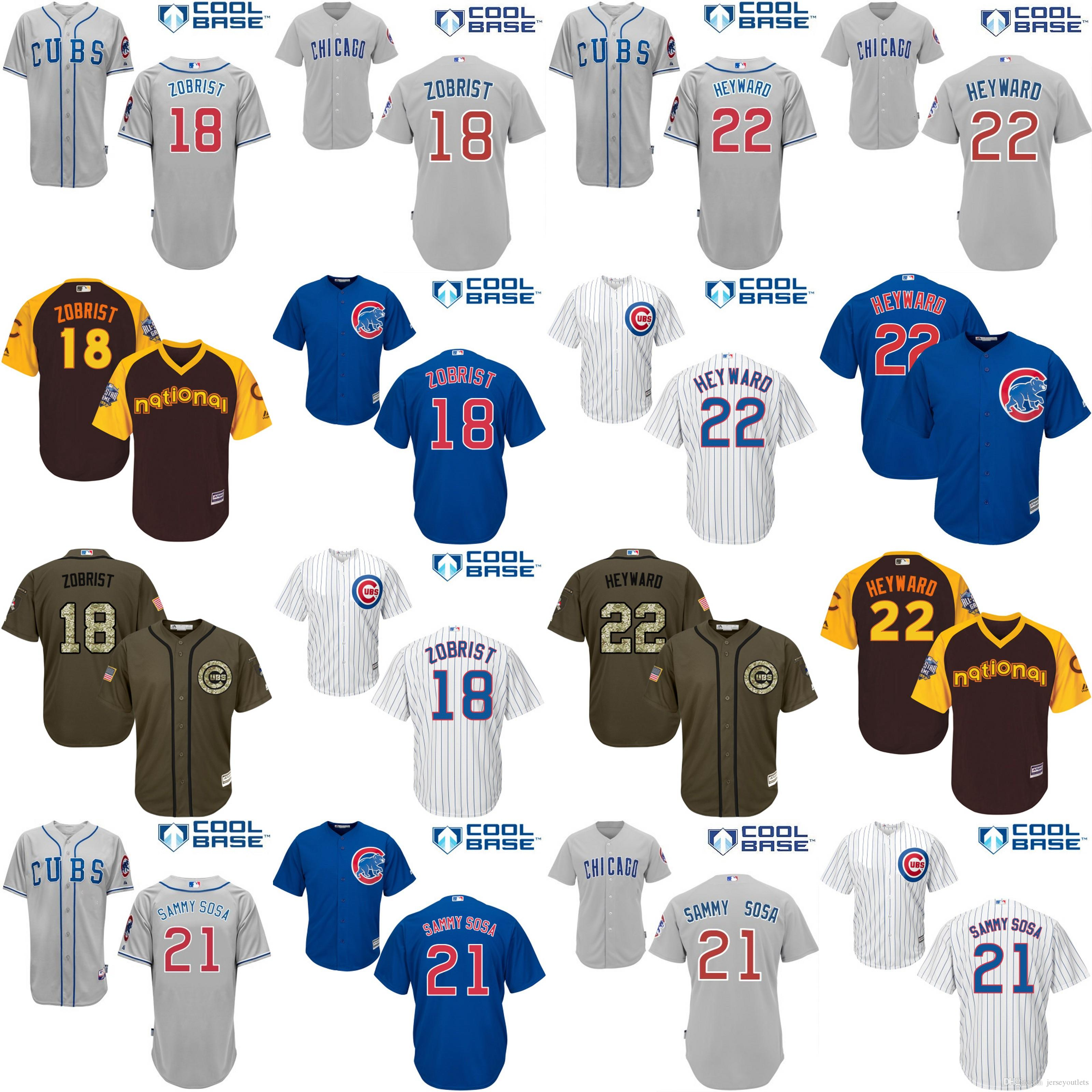 1bea01255f3 ... chicago cubs 18 ben zobrist blue new cool base stitched baseball jersey  ...
