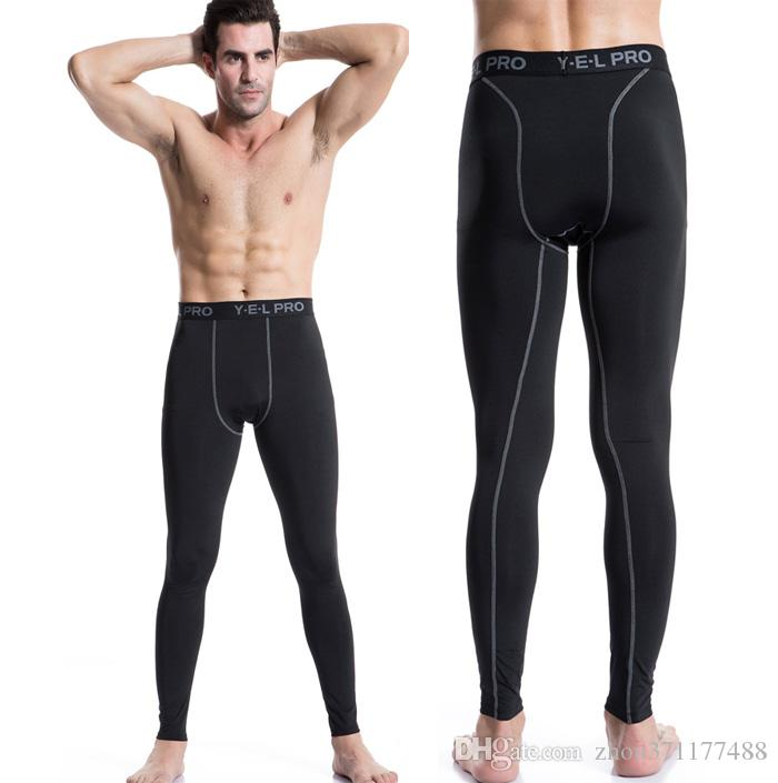 5f3c233e80851 2019 New High Elastic Quick Dry Trouser Men Tights Compression Running  Pants Sports Athletic Leggings Fitness Gym Training Pants From  Zhou371177488, ...