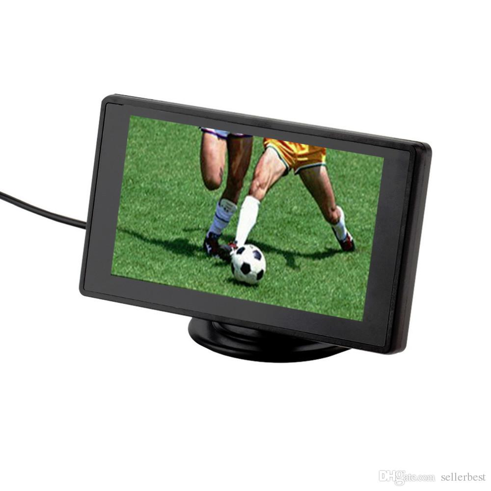 4.3 Inch Color TFT LCD Display Car Rear View Headrest Monitor For DVD Reversing Camera 2 Channel Video Input car monitor~